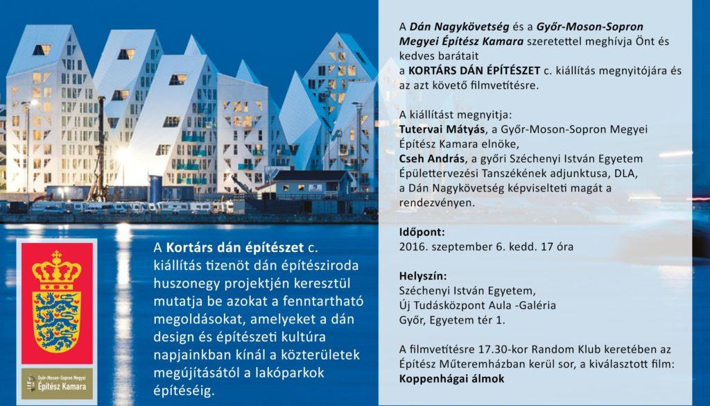 Kiállítás a kortárs dán építészetről Győrben