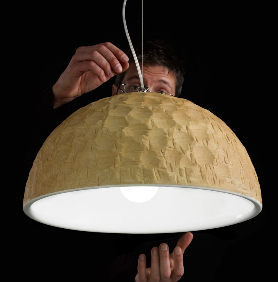 Fábol faragott lámpabúra - Andreas Costa