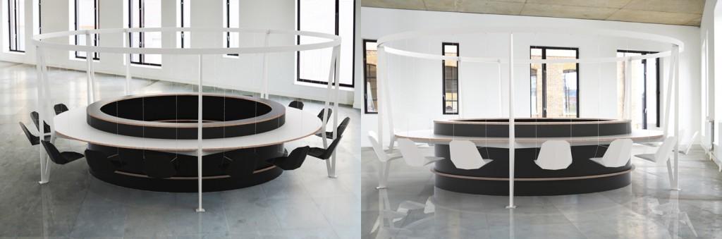 Hintaszék asztal