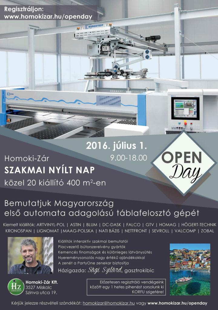 Homoki-Zár open day