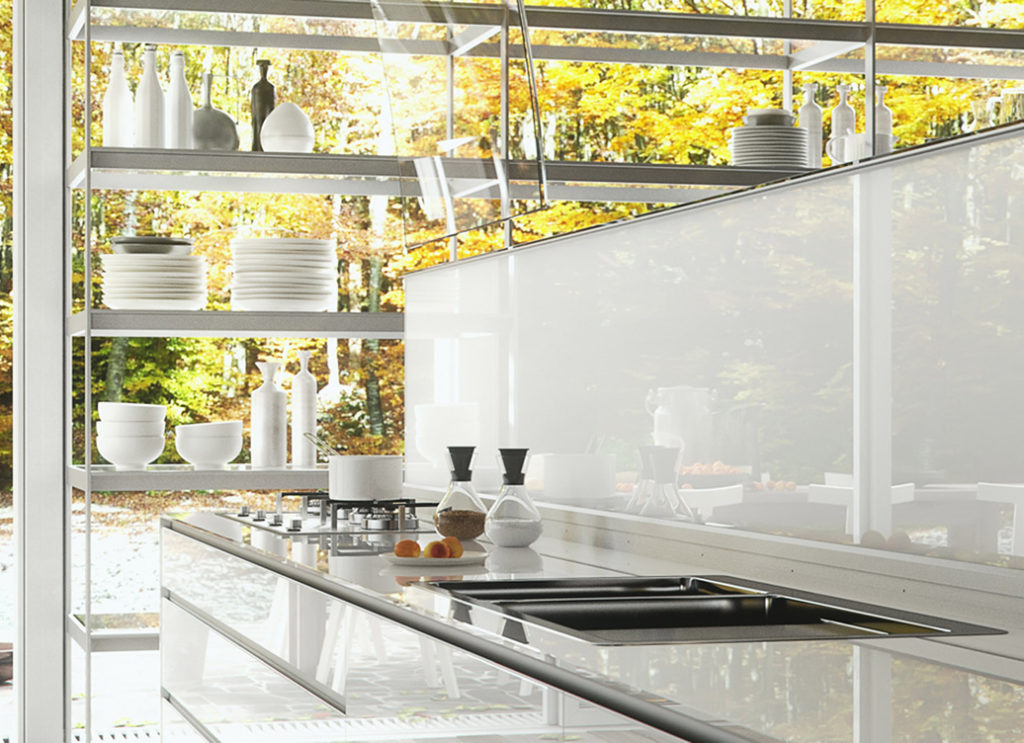 Valcucine konyha - üveg